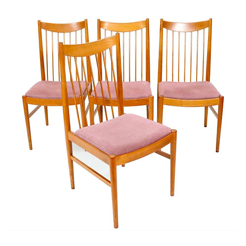 Set of Four Model 422 Teak Dining Chairs by Arne Vodder for Sibast