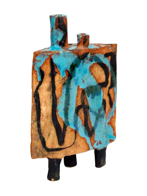 Mid-Century California Studio Ceramic Abstract Sculpture by Win Ng