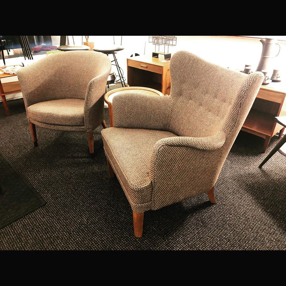 Swedish Upholstered Chairs by Carl Malmsten