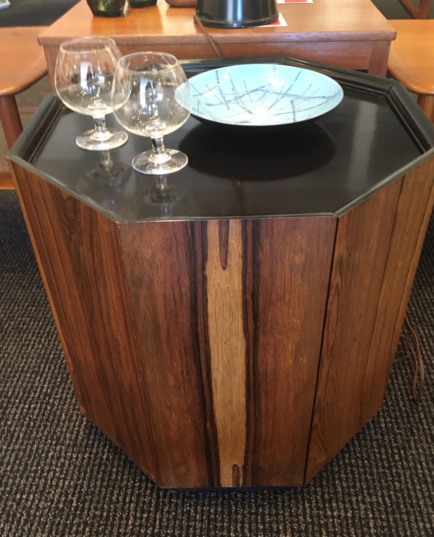 Rosewood Octagon Side Table IMO Harvey Probber