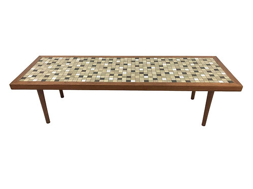 Jane and Gordon Martz Mosaic-Tile Coffee Table with Walnut Trim