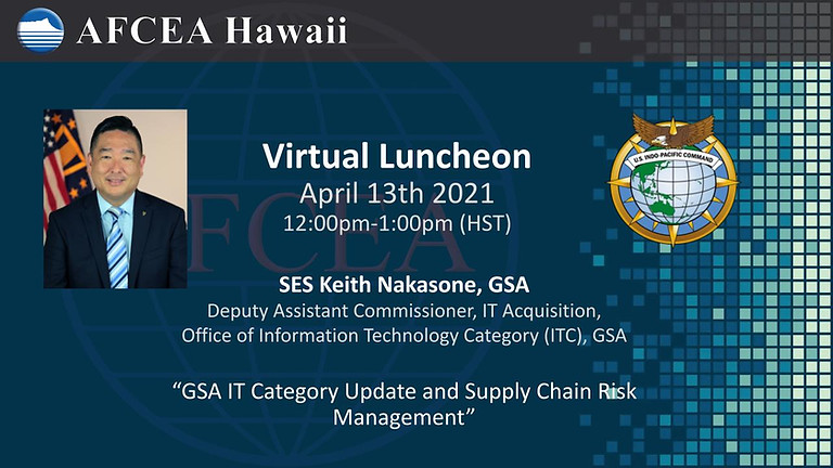 GSA IT Category Update, and Supply Chain Risk Management