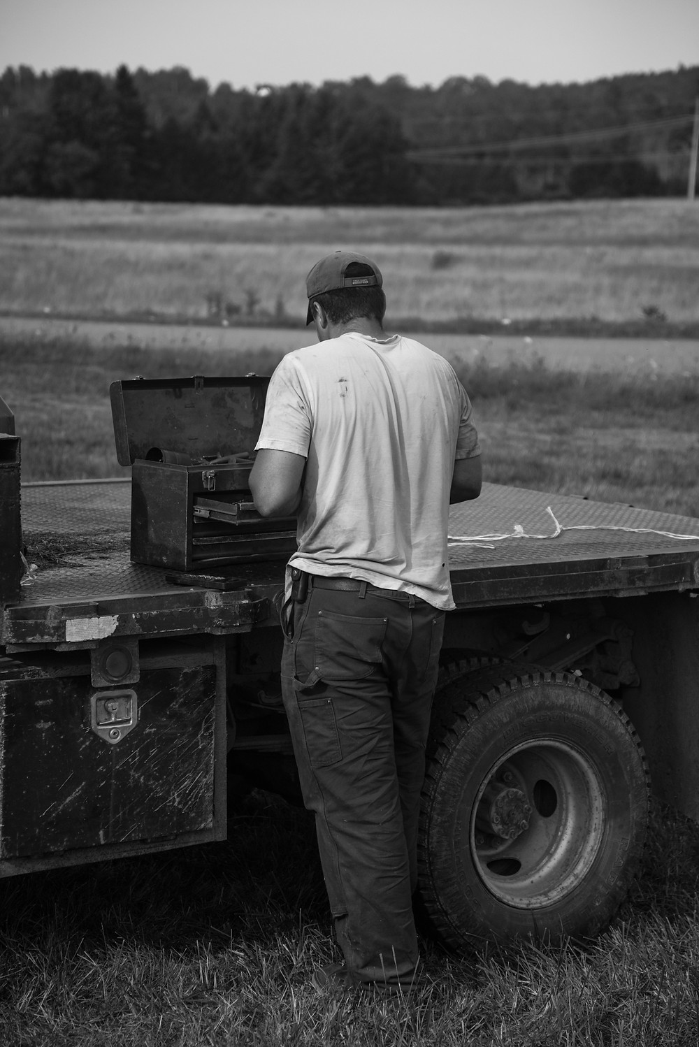 """Harvey Agricultural Equipment in Dover-Foxcroft, an antique tractor institution, is where Sean developed his mechanical ability further and became a pillar of his community when it comes to... """"who around here can fix this?""""   Now he only goes into work when they have a particularly difficult job."""