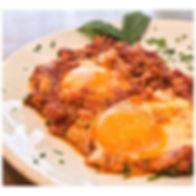 UOVA ALL' AMATRICIANA _Poached eggs smot
