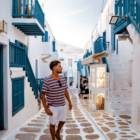 Spring break at the Greek Island Mykonos