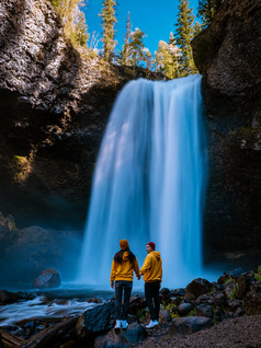 Chasing waterfalls at Wells Gray National park Canada