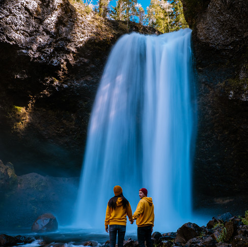 Chasing waterfalls at Wells Gray National park Canada