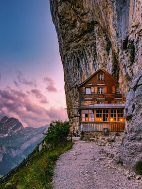 Visit Switzerland's famous cliff-hugging restaurant Aescher