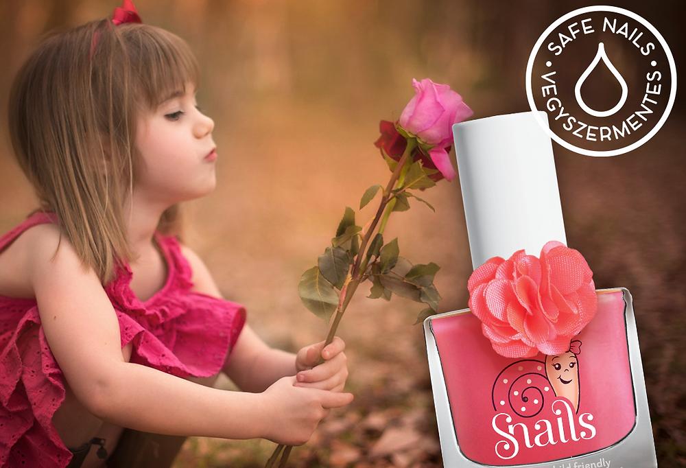 gyerek körömlakk rózsa
