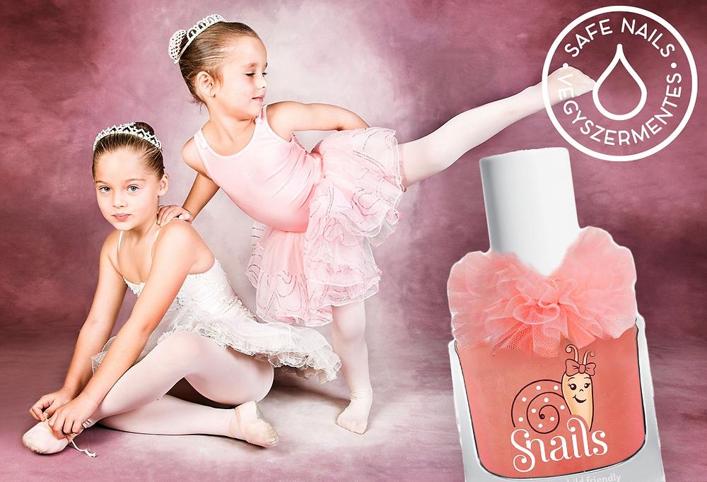 gyerek körömlakk balerina vegyszermentesen