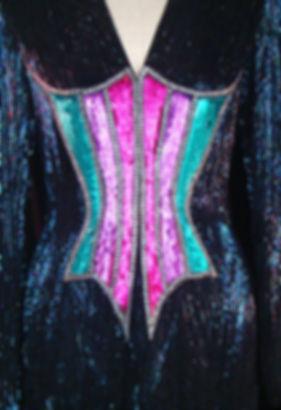 TheFROCK.com, Bob Mackie vintage couture beaded dress
