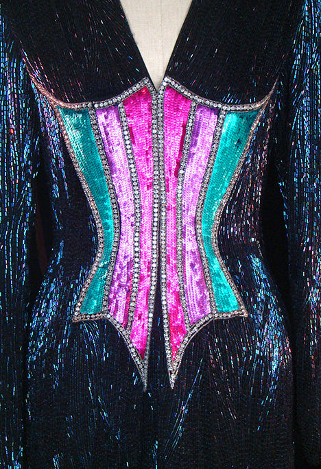 TheFROCK.com, Bob Mackie vintage couture beaded dress
