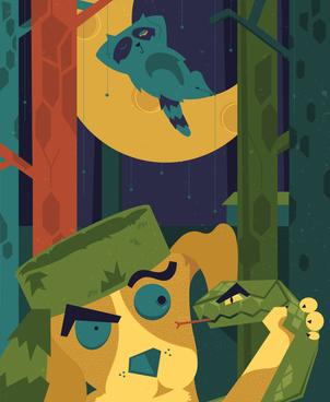 Raccoon Hunt