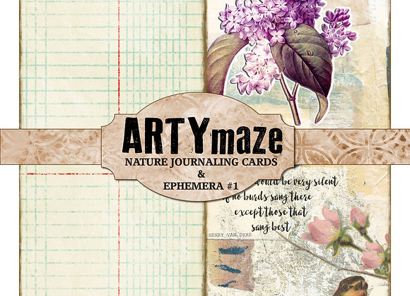 NATURE themed Journaling cards & ephemera