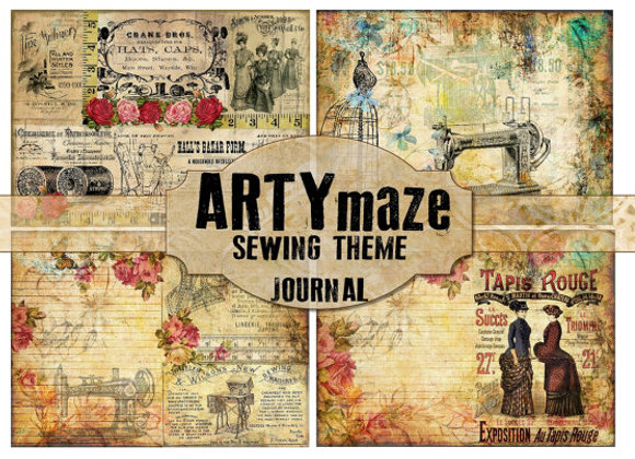 SEWING THEMED JOURNAL KIT