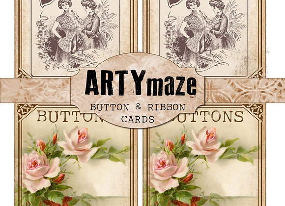 BUTTON & RIBBON CARDS