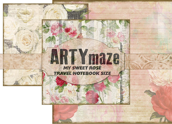 My Sweet Rose TRAVEL NOTEBOOK SIZE