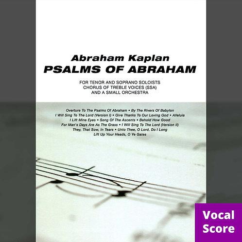 Psalms of Abraham (Vocal Score: SSA)