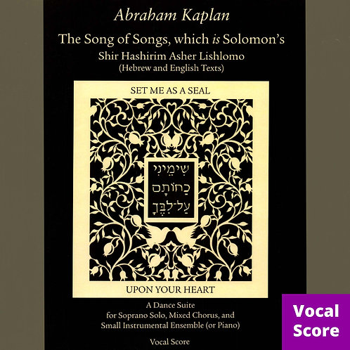 The Song of Songs (Vocal Score)