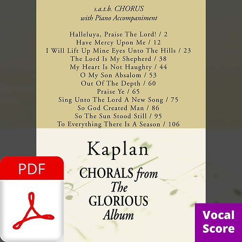 Glorious (Vocal Score) - PDF Delivery