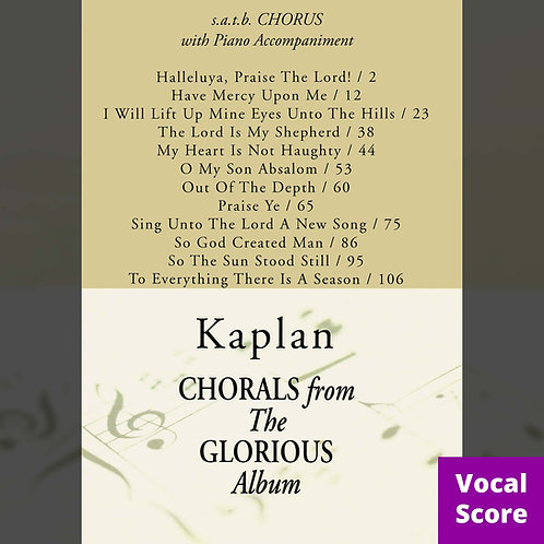 Glorious (Vocal Score)