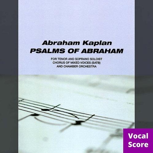 Psalms of Abraham (Vocal Score: SATB)