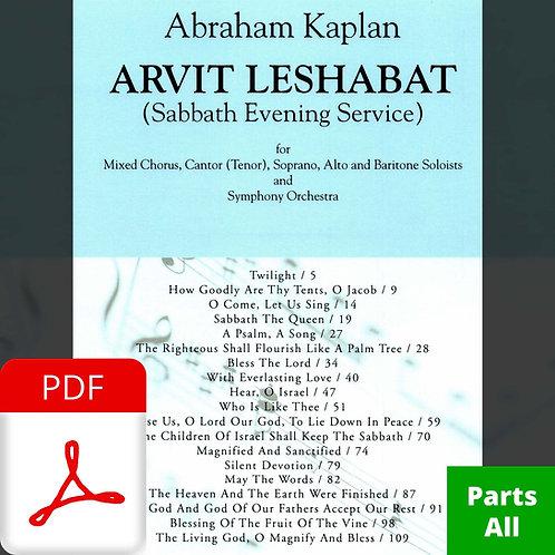 Arvit Leshabat (Instrumental Parts - Complete)