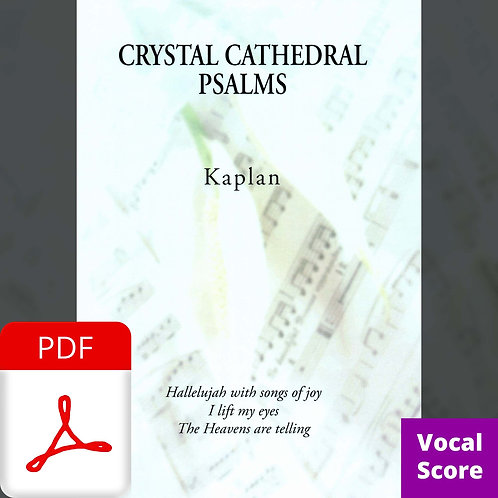 Crystal Cathedral Psalms (Vocal Score) - PDF Delivery