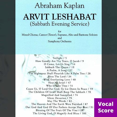 Arvit Leshabat (Vocal Score)