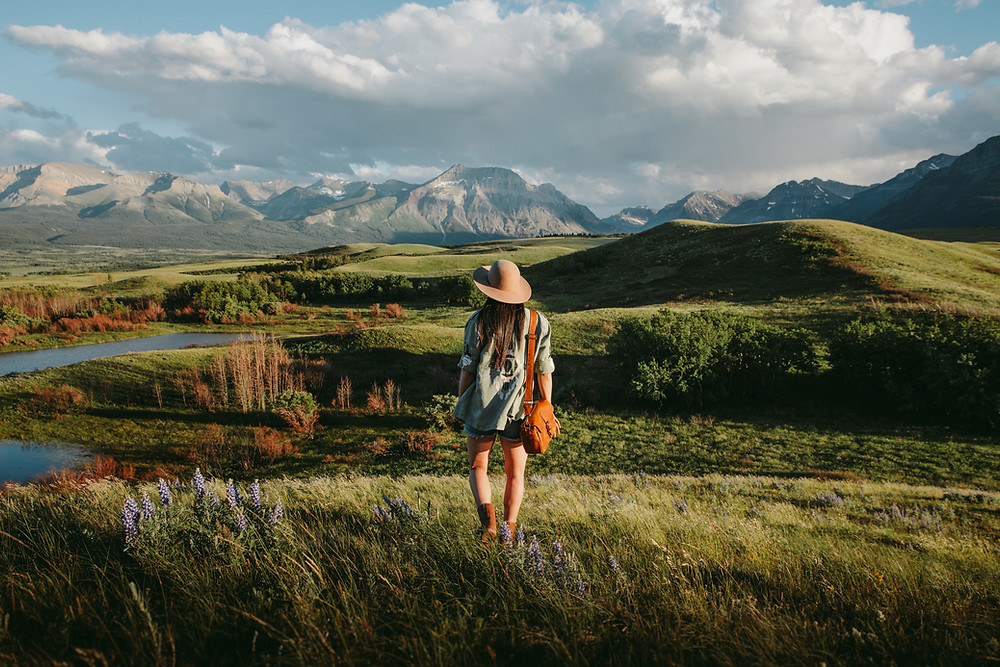 Photo of a girl in Waterton National Parks