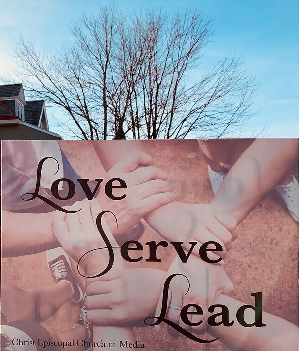 Love Serve Lead close up of sign Dec 201