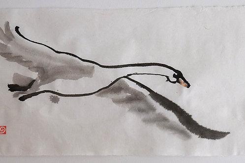 Gyre Ink Paintings 70 x 35 cm