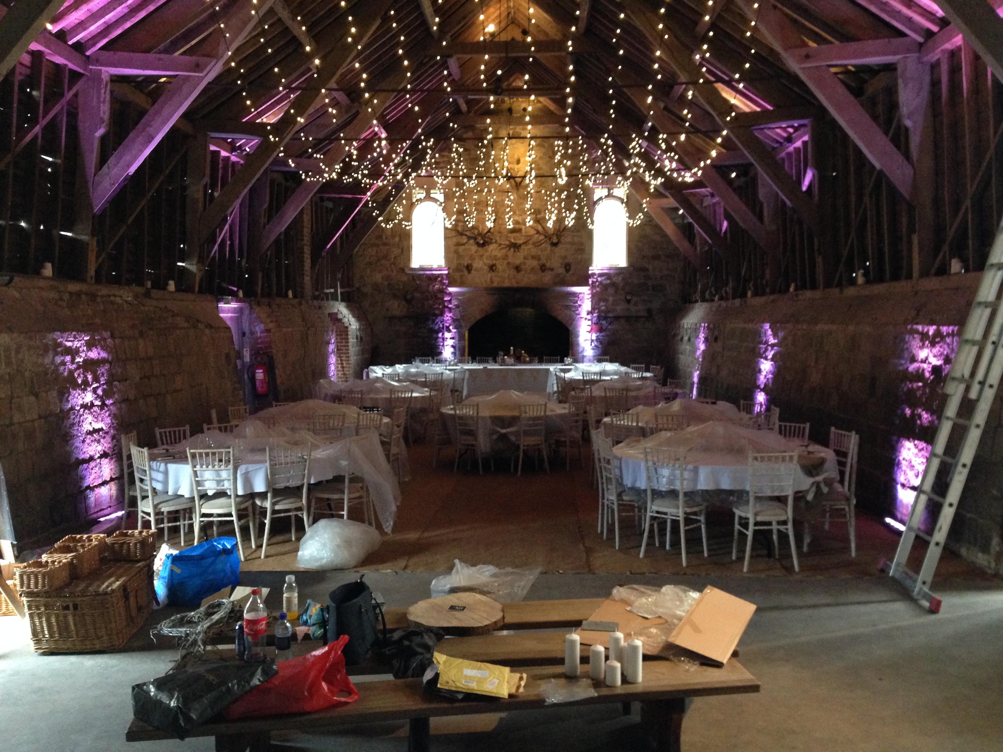 Shrivenham Hall Wedding Lighting