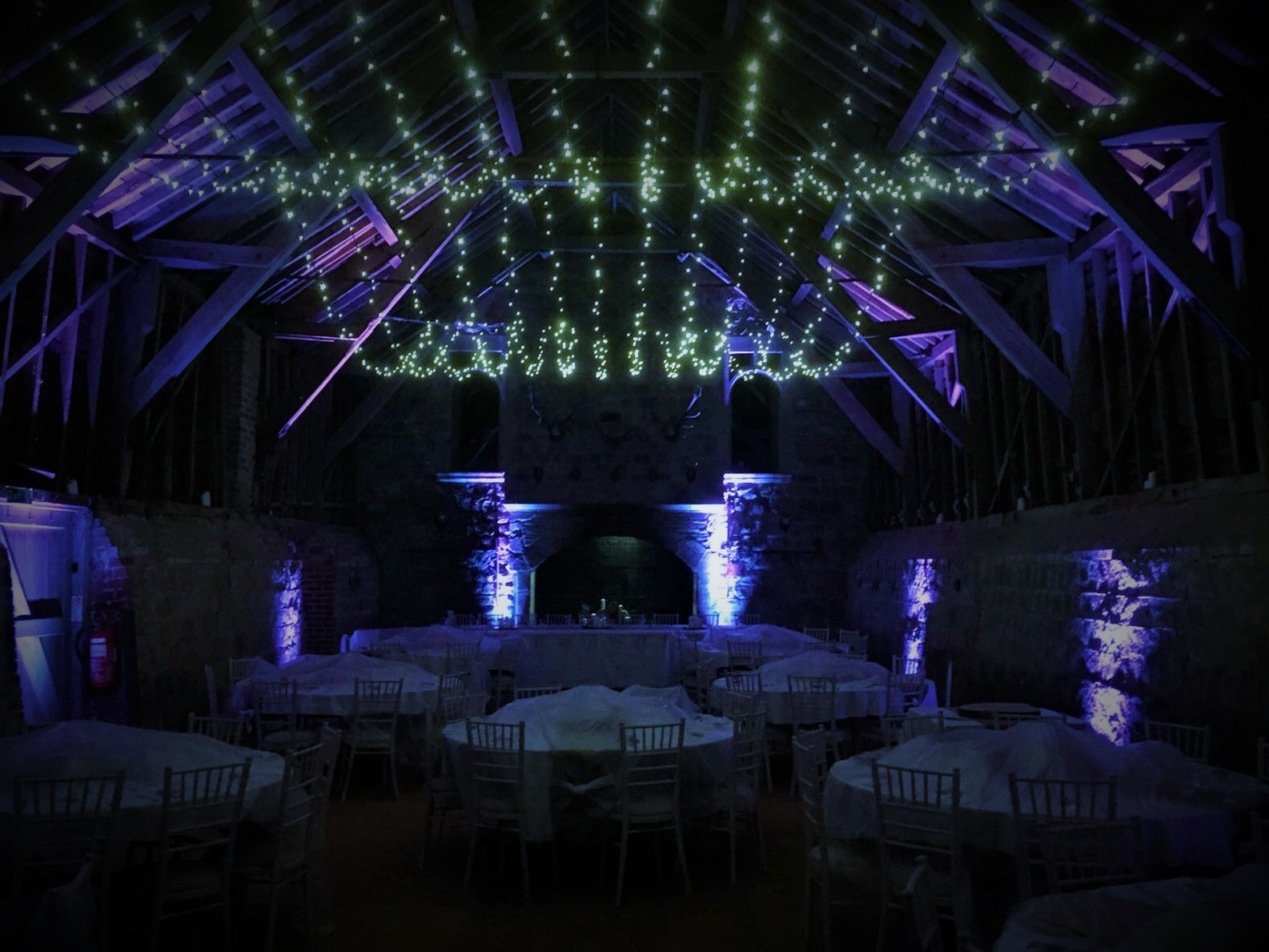 Wick Bottom Barn Fairy Lighting