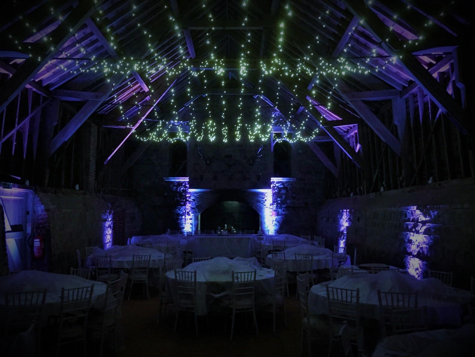 Wick Bottom Barn Fairy Lighting