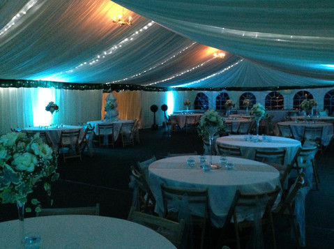 Marquee Canopy and Uplighting