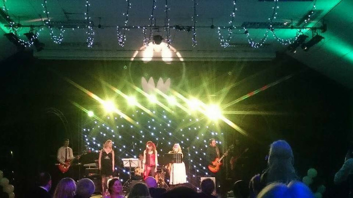 Melksham Assembly Hall Batman themed stage lighting