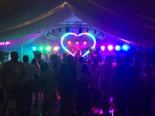 Marquee Festival Wedding Stage