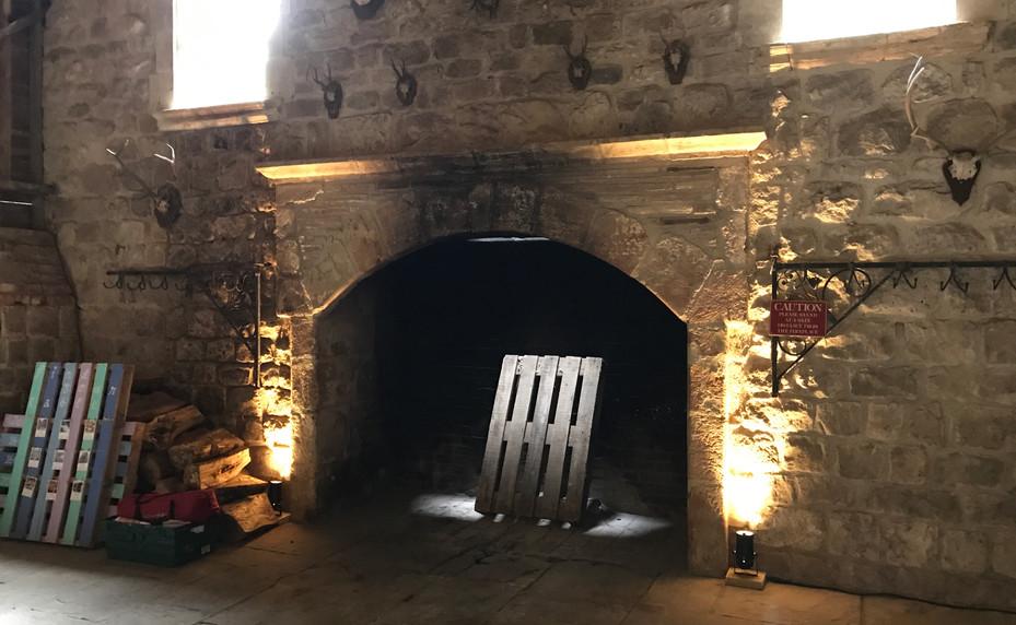 Uplighting  - fireplace