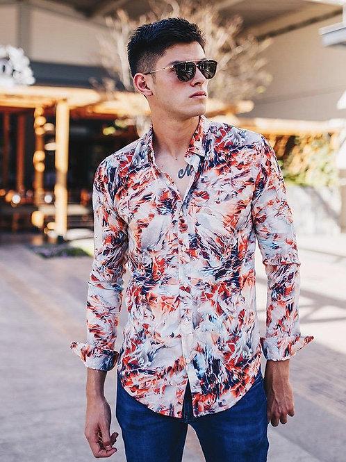 Camisa Caballero Inferno Print