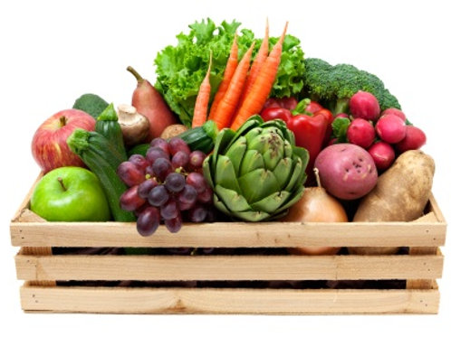 Produce for delivery on Wednesday