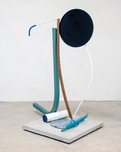 Forms leaning on a rake, 2021