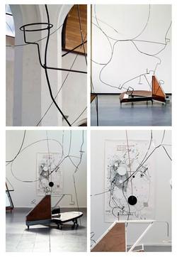 Demountable spatial drawing