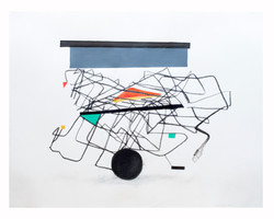 Constellation with digital wire, 2018