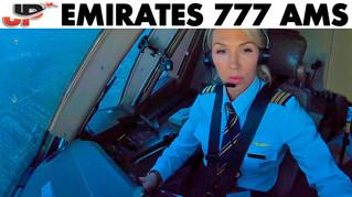 Piloting EMIRATES Boeing 777 into Amsterdam   Cockpit Views