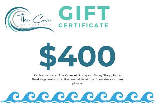 $400 Certificate