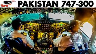 Piloting PAKISTAN BOEING 747 CLASSIC   Cockpit Views