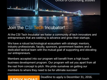 Apply Now: CSI Technology Incubator