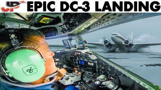 Epic DC-3 Landing on Flooded Beach   Cockpit + GoPro Views