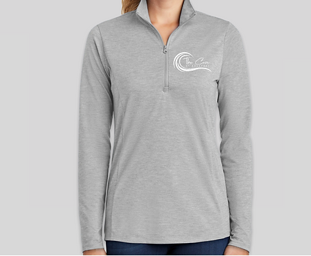 Women's Grey Quarter Zip